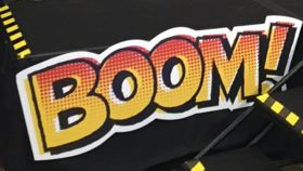 """Image of a """"Boom!"""" Sign"""