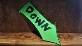 """Image of a """"Down"""" Sign"""