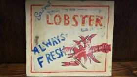 """Image of a """"Gourmet Lobster"""" Sign"""