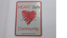 """Image of a """"Heart Safe"""" Sign"""
