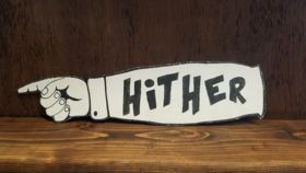 """Image of a """"Hither"""" Sign"""