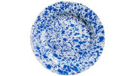 Image of a Blue Enamel Dinner Plate