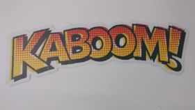 """Image of a """"Kaboom!"""" Sign"""