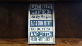 """Image of a """"Lake Rules"""" Sign"""