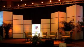 Image of a 12' Double White Stage Set