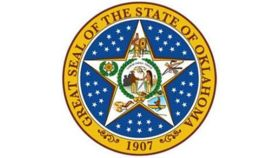 Image of a 8' Spandex Circle - State Seal of Oklahoma