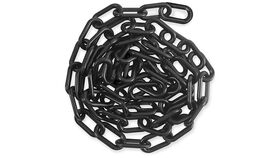 Image of a 50' Black Plastic Stanchion Chain Rental