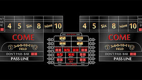 Image of a 12' Black Craps Casino Game Table Kit