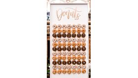 Image of a 2' x 4' White Wood Donut Wall