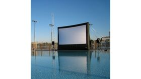 Image of a 16' x 9' Inflatable Movie Night Package w/FM Audio Broadcast