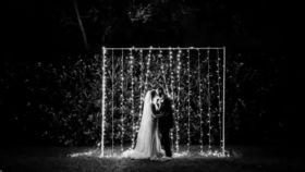 Image of a 03 - String Light Backdrop