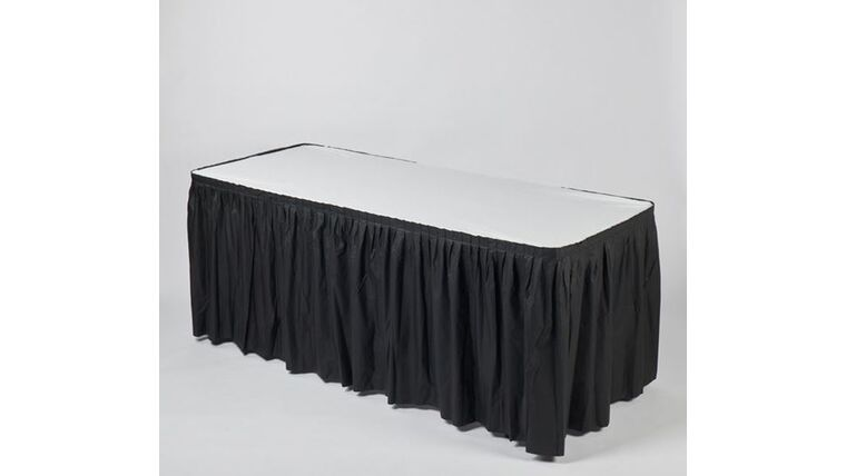 Picture of a 13' BLACK Kwik Covers Skirt