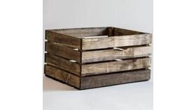 """Image of a 22"""" Wooden Crate (Dark Stain)"""