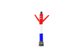 Image of a Air Dancers® Inflatable Tube Man Red, White, and Blue USA - 10'