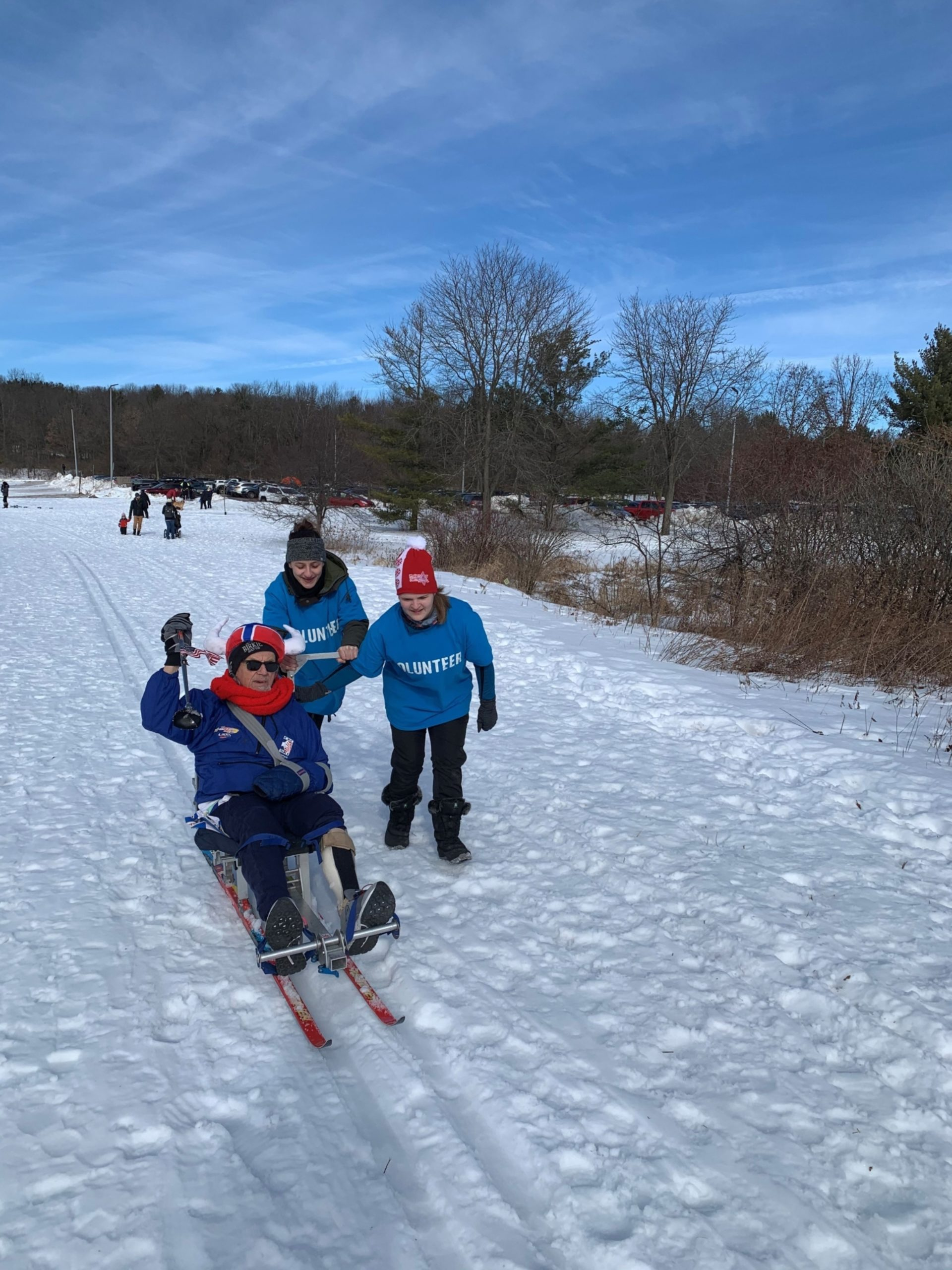 Adapted skiing