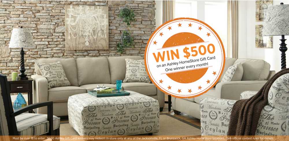 Enter Ashley HomeStoreu0027s. $500 Monthly Gift Card ...