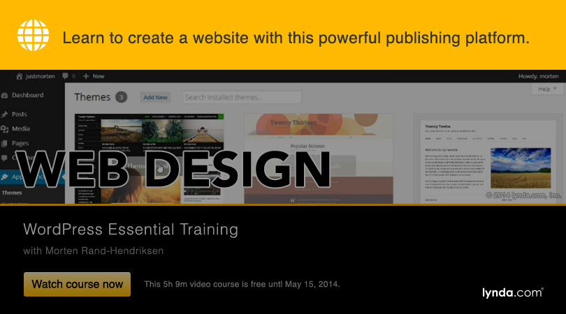 "lynda.com 免费课程 WordPress Essential Training丨""反""斗限免"