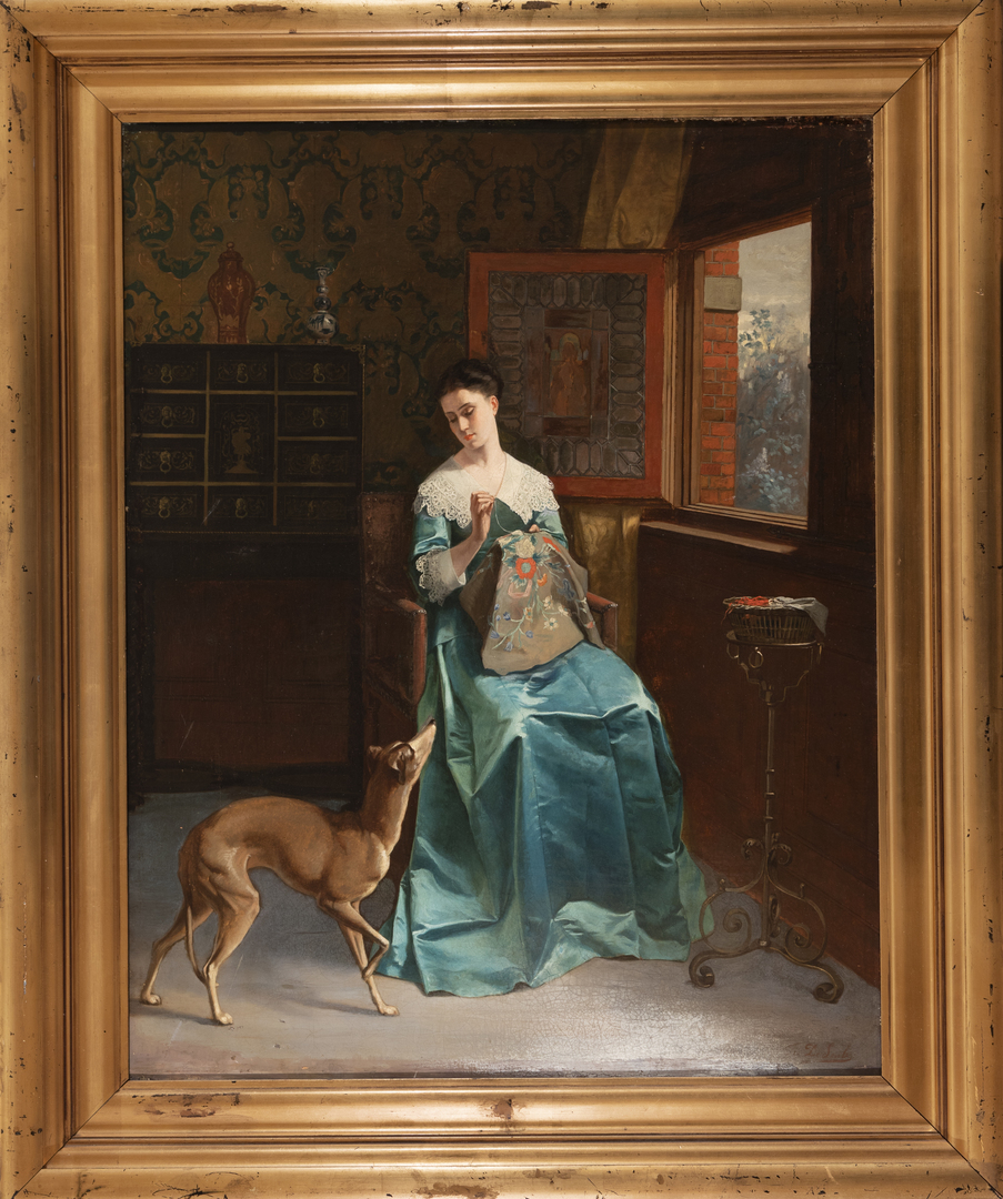 Lady with a Whippet