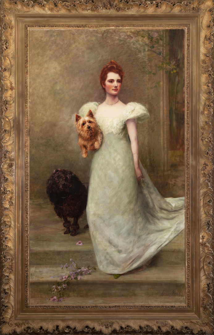Portrait of a Lady with Two Dogs