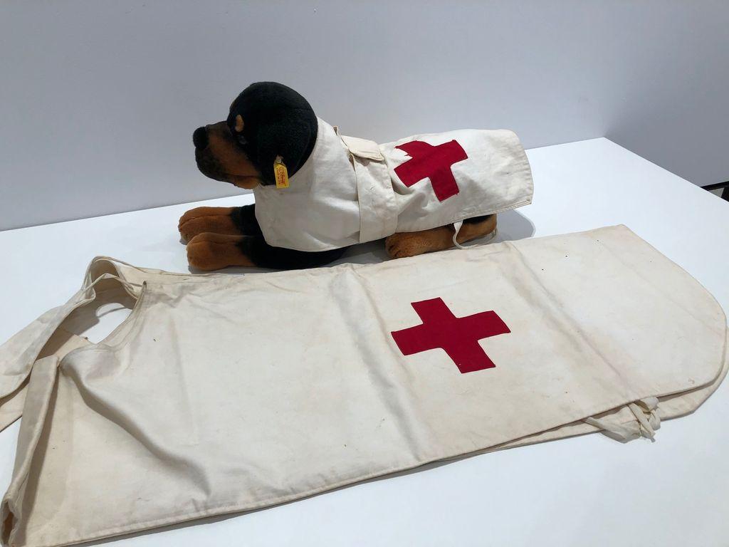 Red Cross Dog Coat