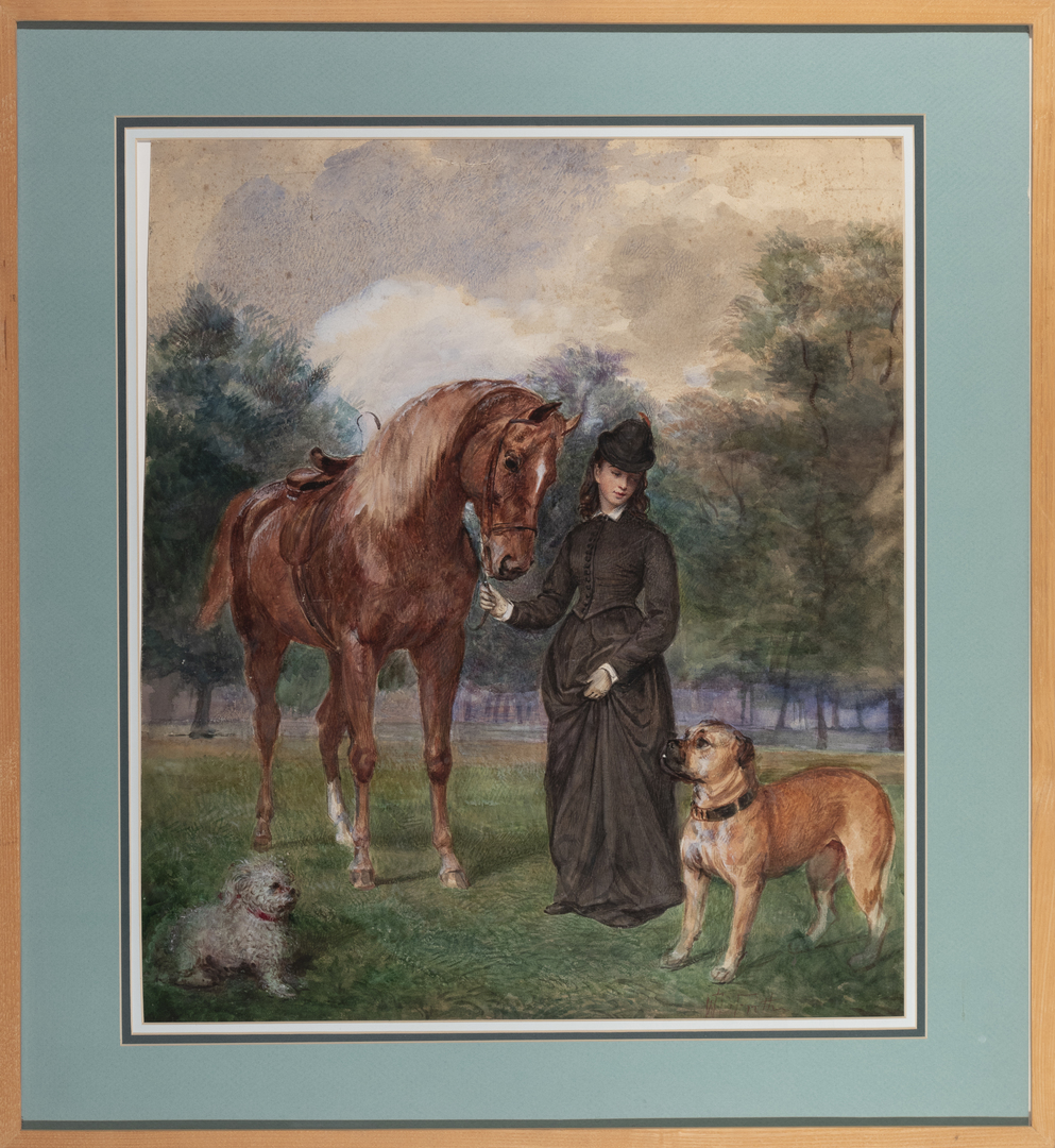 Lady Flora Hastings with Horse & Dogs