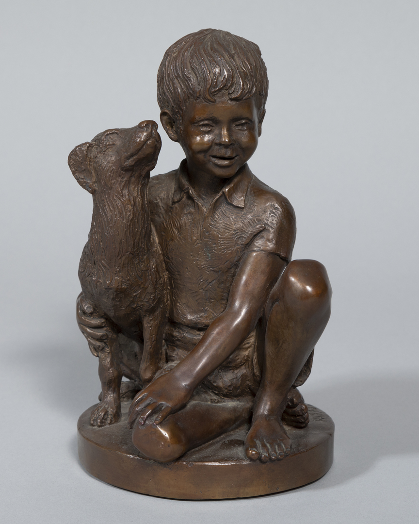 Boy w/ Dog by Franklin Mint