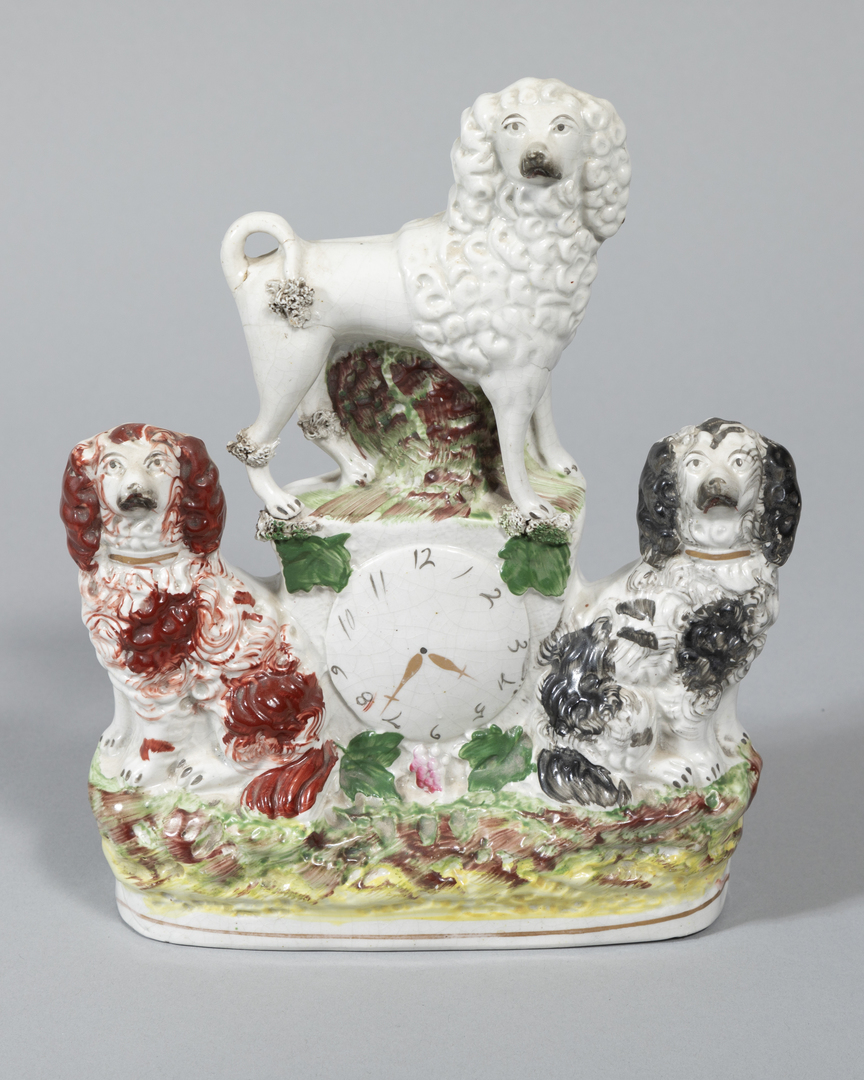 Poodle and Spaniels Clock