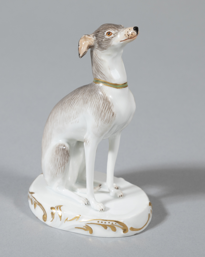 Painted Sitting Whippet
