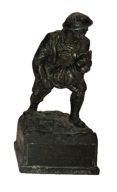 WW I  War Dog carried by Soldier- black/brown