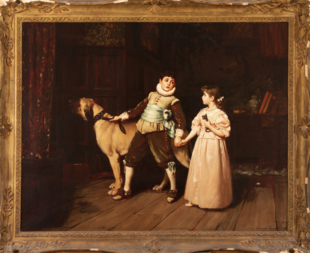 Boy and Girl with a Mastiff