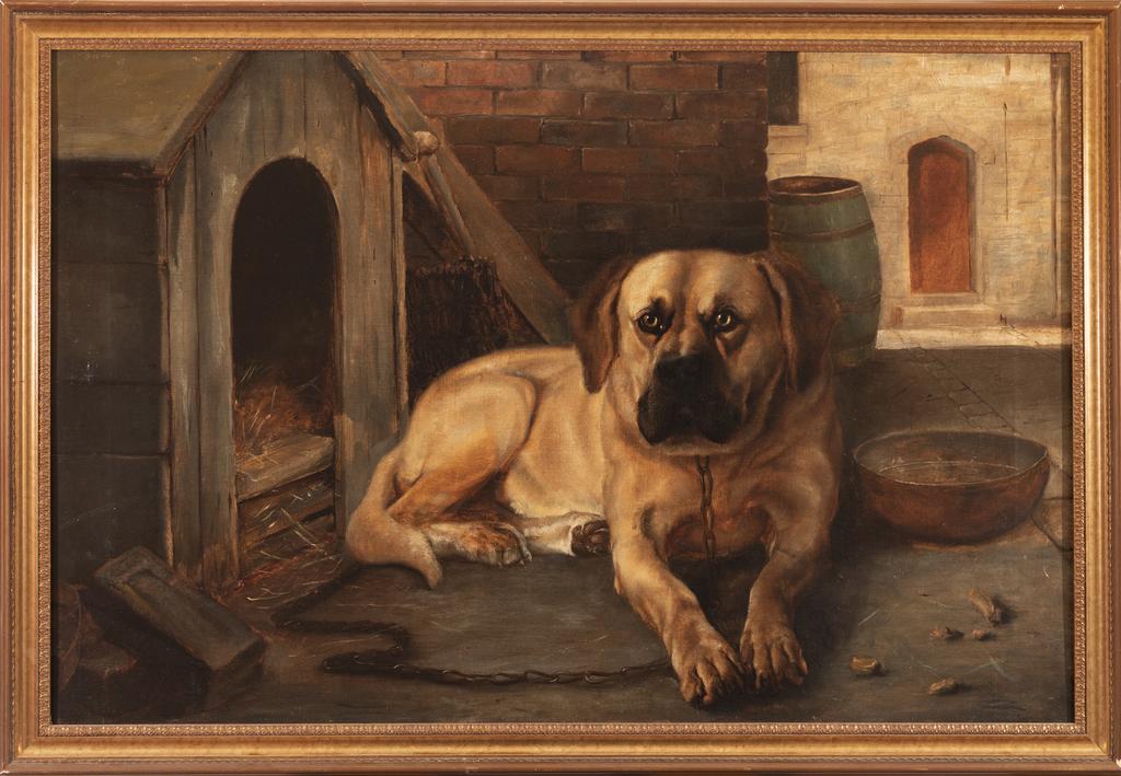 Mastiff Reclining in Stall