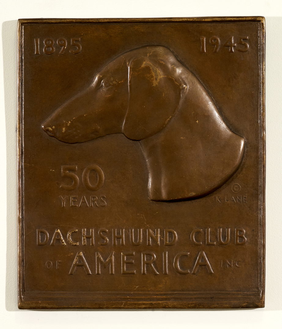 Plaque Celebrating 50th Year of The Dachshund Club of America