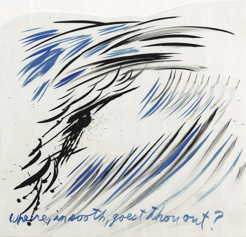 Raymond Pettibon, Untitled (Where, in sooth, goest thou out?), 2003