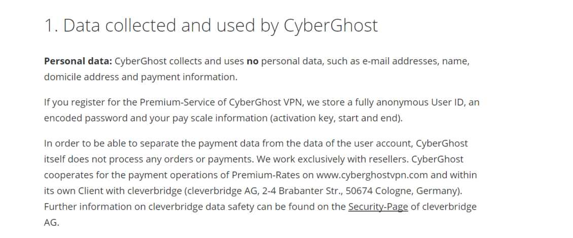 Cyberghost Vpn Review Privacy Policy