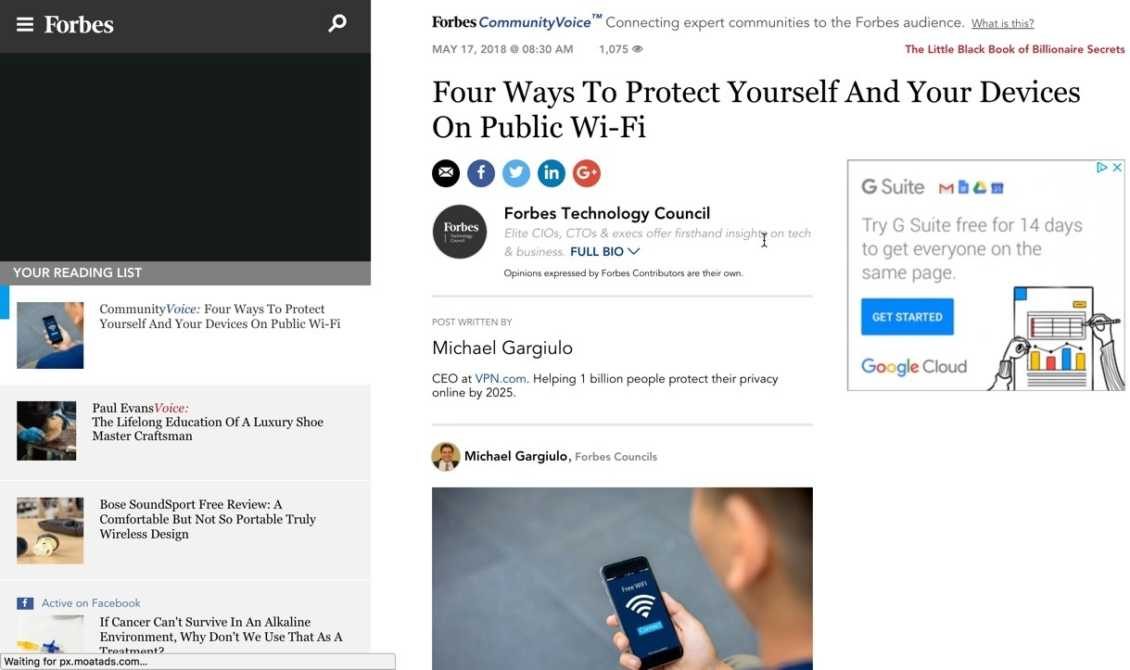Vpn Forbes Protect Yourself Public Wifi