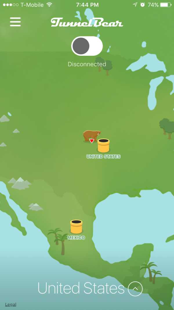 Tunnelbear Review Mobile App Map